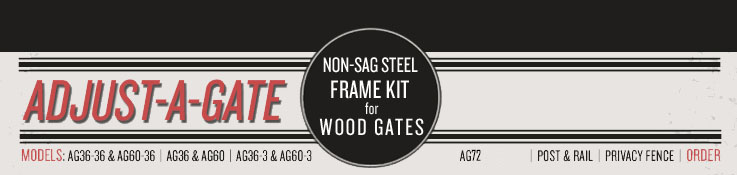 Adjust-A-Gate Non-Sag Steel Frame Kit for Wood & Vinyl Gates